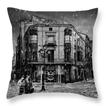 Old Lady Throw Pillows