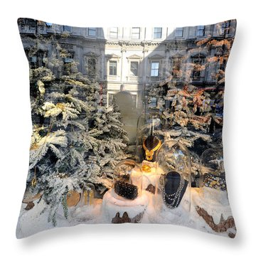 Christmas Shopping Throw Pillow by Marwan Khoury