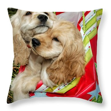 Christmas Shopping Throw Pillow