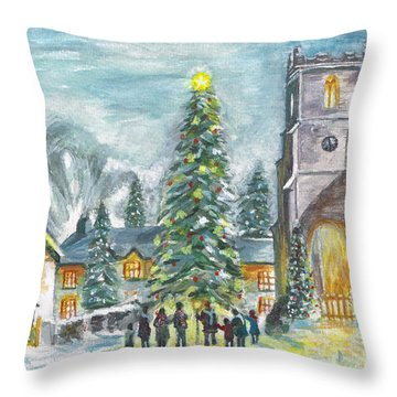 Christmas Spirit Throw Pillow by Teresa White