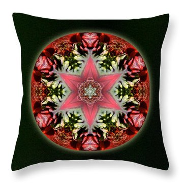 Christmas Star Throw Pillow