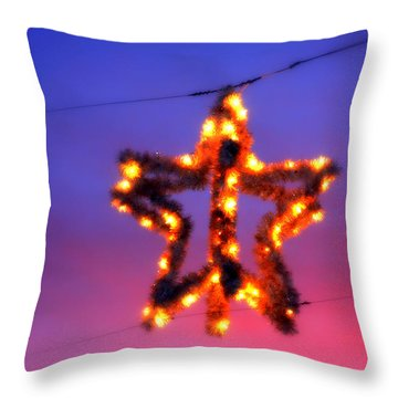 Throw Pillow featuring the photograph Christmas Star by Aurelio Zucco