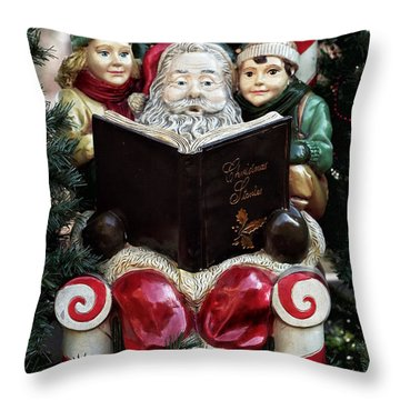 Christmas Stories Throw Pillow by John Rizzuto