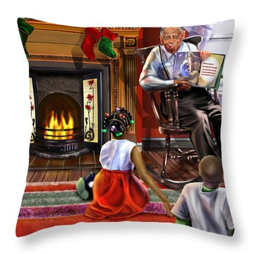 Christmas Story Throw Pillow by Reggie Duffie
