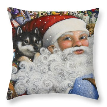 Christmas Stowaway Throw Pillow