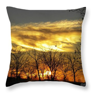 Christmas Sunrise Throw Pillow