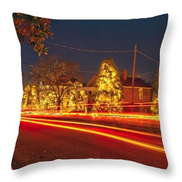 Throw Pillow featuring the photograph Christmas Town Usa by Alex Grichenko