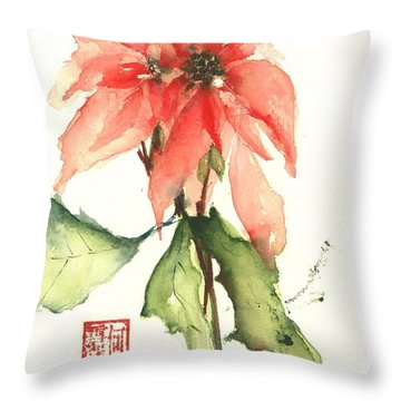 Christmas Tradition Throw Pillow by Sherry Harradence