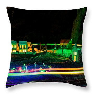 Throw Pillow featuring the photograph Christmas Train by Jay Stockhaus
