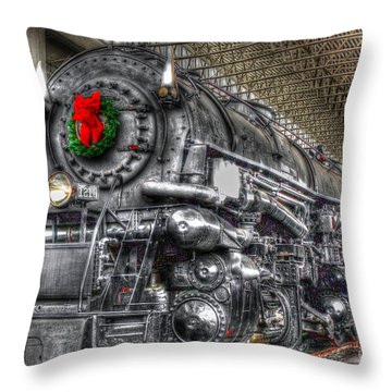 Christmas Train-the Holiday Station Throw Pillow