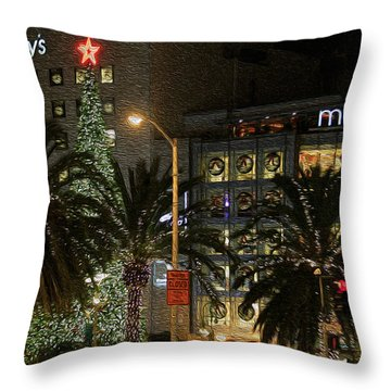 Christmas Tree At Union Square Throw Pillow