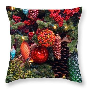 Christmas Tree Cheer Throw Pillow by Byron Varvarigos