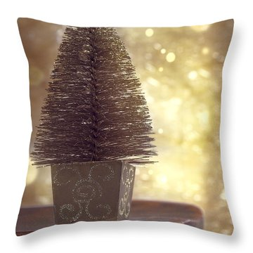 Christmas Tree Throw Pillow by Amanda Elwell