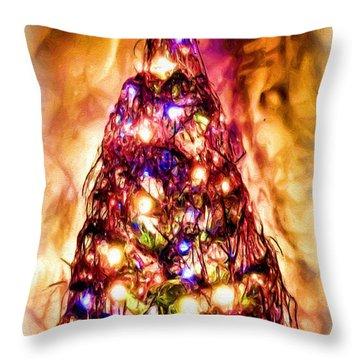 Throw Pillow featuring the digital art Christmas Tree by Daniel Janda