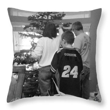 Christmas Tree Prep Throw Pillow