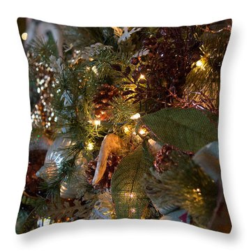 Throw Pillow featuring the photograph Christmas Tree Splendor by Patricia Babbitt