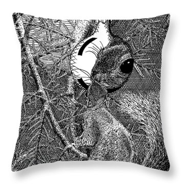 Christmas Tree Squirrel Throw Pillow