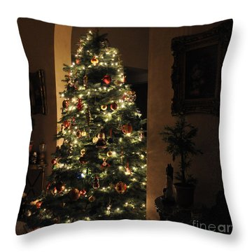 Throw Pillow featuring the photograph Christmas Tree by Tanya  Searcy
