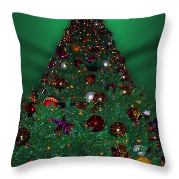 Christmas Tree Throw Pillow by Thomas Woolworth