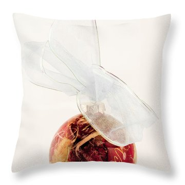 Christmas Decoration Decoupaged Throw Pillow by Vizual Studio