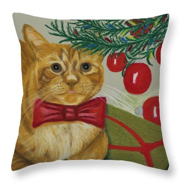 Christmas With Rufus Throw Pillow