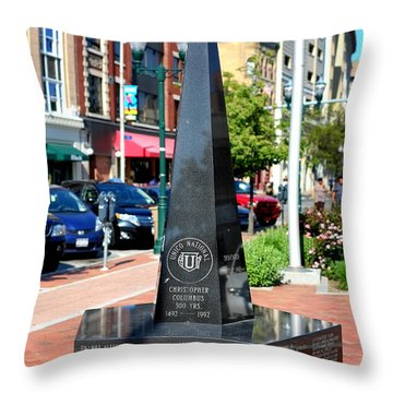 Christopher Columbus Monument Throw Pillow