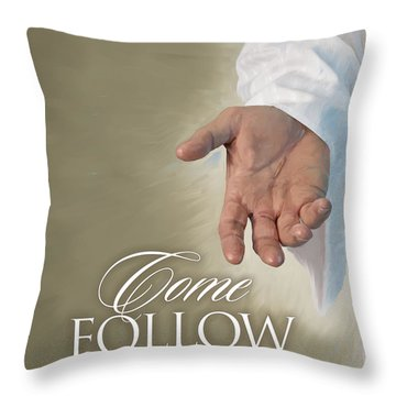 Christ's Hand Throw Pillow by Rob Corsetti