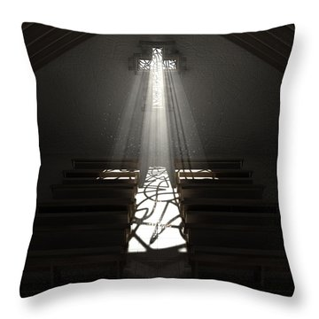 Christ's Light In The Dark Throw Pillow by Allan Swart