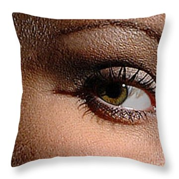 Christy Eyes 89 Throw Pillow by Gary Gingrich Galleries