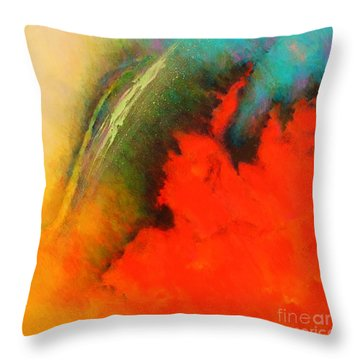 Fantasies In Space Series Painting. Chromatic Vibrations Throw Pillow