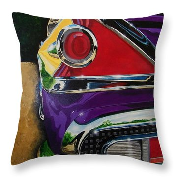Chrome And Color Throw Pillow