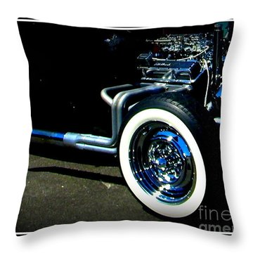 Throw Pillow featuring the photograph Chrome  by Bobbee Rickard