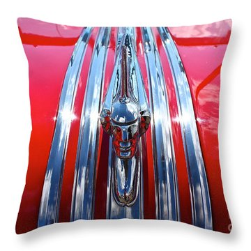 Throw Pillow featuring the photograph Chrome Chief by Linda Bianic