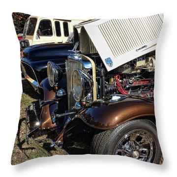 Chrome On Brown Throw Pillow