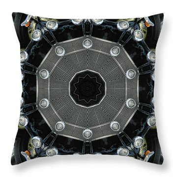 Chrome Throw Pillow by Victor Montgomery