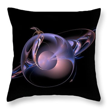 Chrome Worlds-4 Throw Pillow