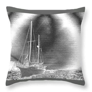 Chromed Sailboats In Key Largo Throw Pillow
