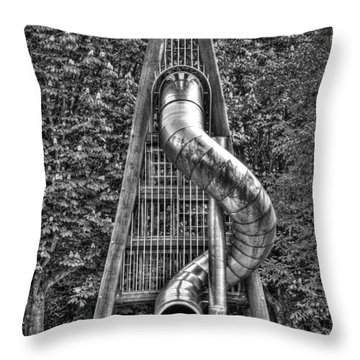 Chromium Slide Throw Pillow by Semmick Photo