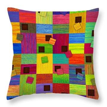 Chronic Tiling Throw Pillow by David K Small