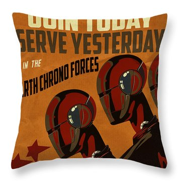 Chrononaut Core Throw Pillow by Cinema Photography