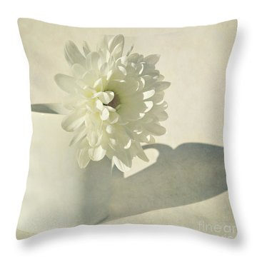 Chrysanthemum Shadow Throw Pillow by Lyn Randle