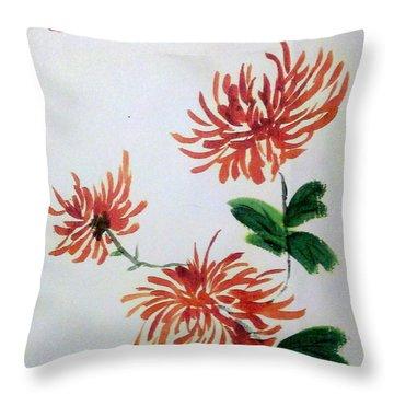 Chrysanthemums Throw Pillow