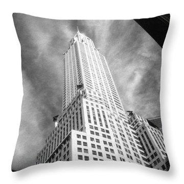 Chrysler Building Infrared Throw Pillow