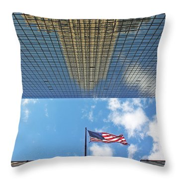 Chrysler Building Reflections Vertical 2 Throw Pillow by Nishanth Gopinathan