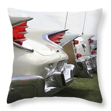 Chrysler Fins Throw Pillow by Mike McGlothlen