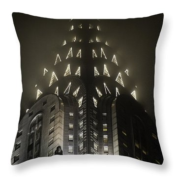 Chrysler Fog Lights Throw Pillow