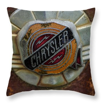 Chrysler Throw Pillow by Jean Noren