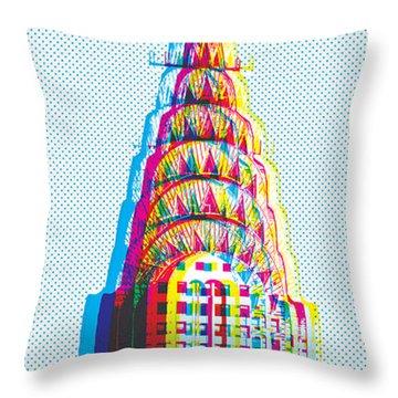 Chrysler Pop Art Throw Pillow
