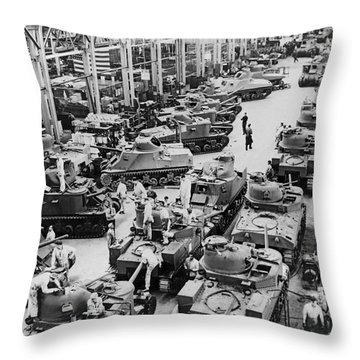 Chrysler Tank Plant Throw Pillow