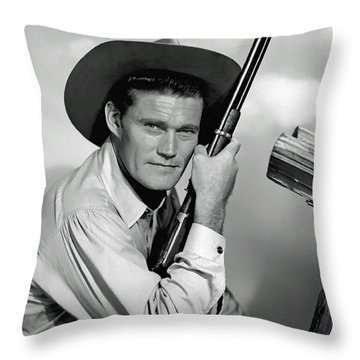 Chuck Connors - The Rifleman Throw Pillow
